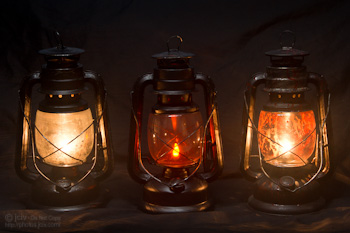 Antique Halloween Lantern Comparison