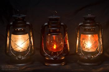 Antique Halloween Lantern Comparison